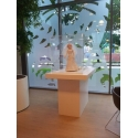 Galeriesockel matt-weiß, 30 x 30 x 115 cm (LxBxH)