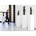 Galeriesockel matt-weiß, 45 x 45 x 100 cm (LxBxH)