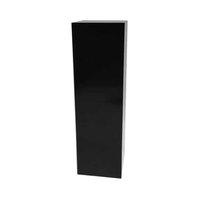 Galeriesockel schwarz Hochglanz, 30 x 30 x 100 cm (LxBxH)