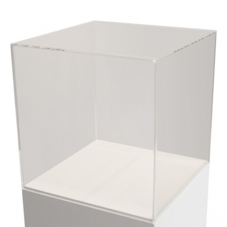 Vitrinenhaube aus extra transparentem Acrylglas, 50 x 50 x 50 cm (LxBxH), Kanten poliert & geschliffen