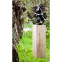 Sockel Eichenholz gehobelt, 20 x 20 x 80 cm (LxBxH)