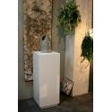 Galeriesockel MDF Weiß mit Tür 50 x 50 x 100 cm