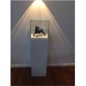Galeriesockel matt-weiß, 20 x 20 x 90 cm (LxBxH)