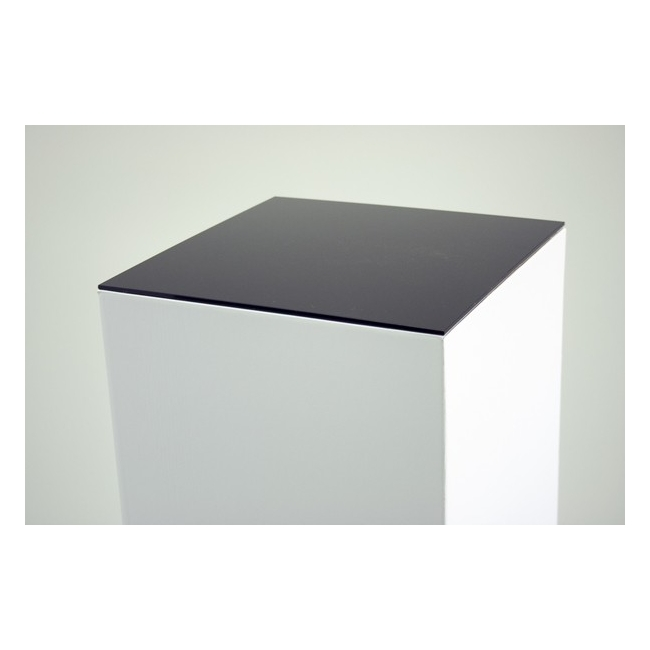 Sockelplatte (4mm Acrylglas schwarz), Abmessung 30,2 x 30,2 cm (für Pappkarton-Sockel)