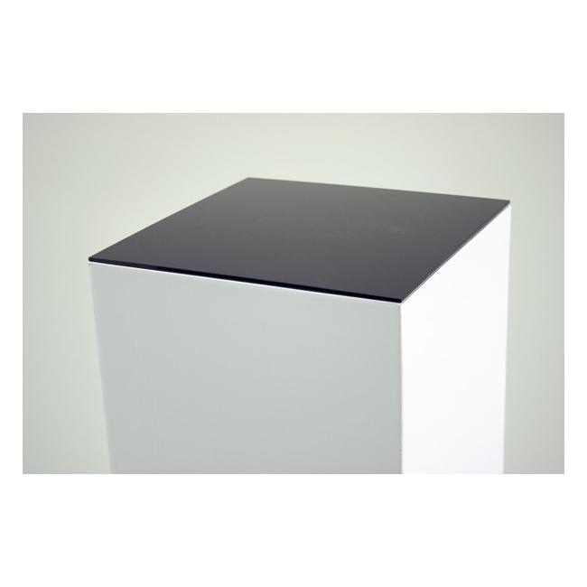 Sockelplatte (4mm Acrylglas schwarz), Abmessung 45,2 x 45,2 cm (für Pappkarton-Sockel)