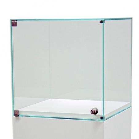 Glashaube mit Tür, 30 x 30 x 30 cm (LxBxH)
