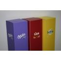 Sockel Pappkarton ganzflächig in Farbe bedruckt, 30 x 30 x 100 cm (LxBxH)