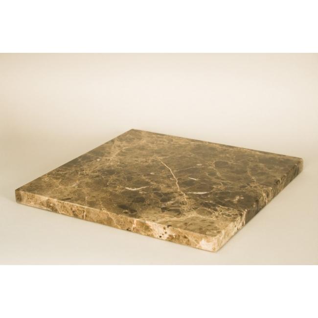 Sockelplatte brauner Marmor (Emparador Dark, 20mm),  40 x 40 cm
