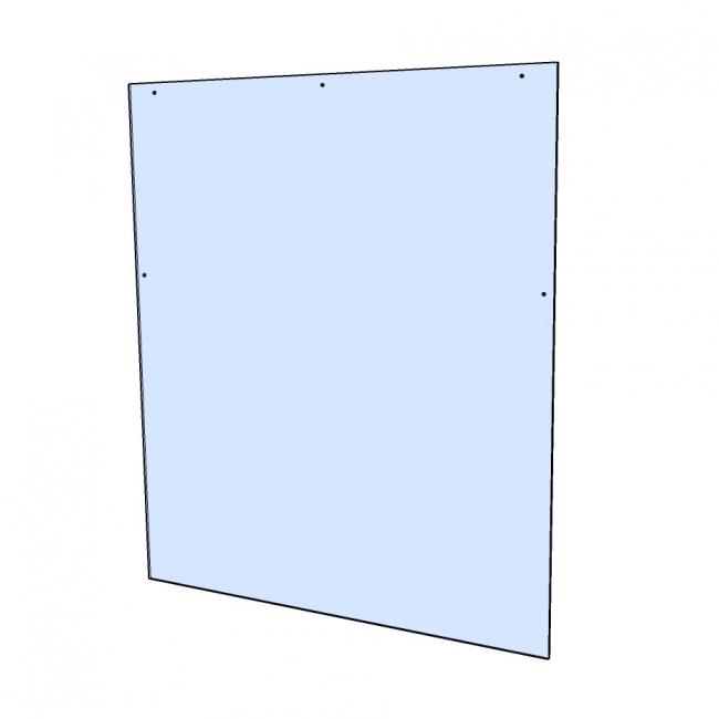 Hangende plexiglas beschermwand / heldere kunststof afscherming voor kassa (incl. bevestigingsmateriaal)