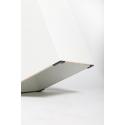 Galeriesockel matt-weiß mit Tür, 40 x 40 x 100 cm (LxBxH) mit Einlegeböden und Schattenfuge