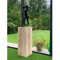 Sockel Eichenholz gehobelt, 25 x 25 x 80 cm (LxBxH)