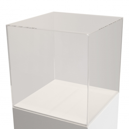 Vitrinenhaube aus extra transparentem Acrylglas, 40 x 40 x 40 cm (LxBxH), Kanten poliert & geschliffen