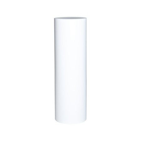 Runder Sockel matt-weiß, Ø 20 cm x 100 cm (H)