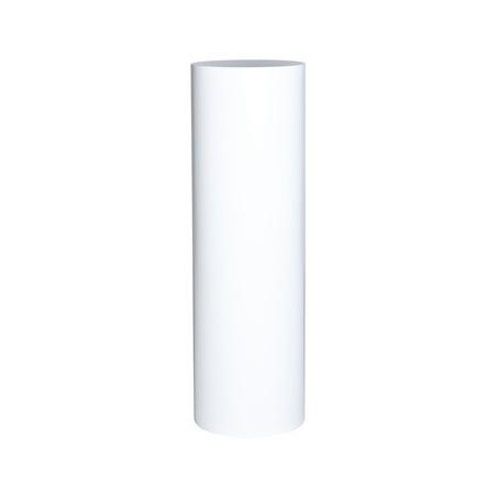 Runder Sockel matt-weiß, Ø 25 cm, Höhe 100 cm